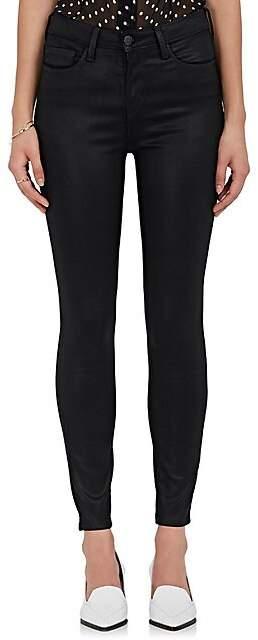 L'Agence Women's Margot Coated Skinny Jeans - Black Coat