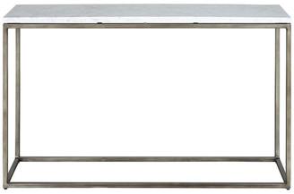 Palliser Furniture Palliser Furniture, Julien Console Table, Gunmetal Base, White Marble