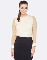 Oxford Beca Silk Sleeve Top