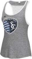 adidas Women's Sporting Kansas City Pearl Logo Lace Back Tank Top