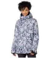 Roxy GORE-TEX(r) 2L Glade Printed Snow Jacket (Heather Grey Botanical Flowers) Women's Coat