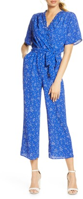 Fraiche by J Domi Surplice Neck Jumpsuit