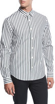 Vince Striped Long-Sleeve Sport Shirt
