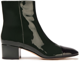 Gianvito Rossi Langley 45 Patent-leather Ankle Boots