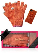 Juicy Couture Texting Gloves & Iphone Case Set in Fire Opal