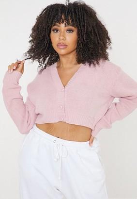 Missguided Size Rose Basic Cardigan