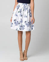 Le Château Floral Print Cotton Sateen Full Skirt