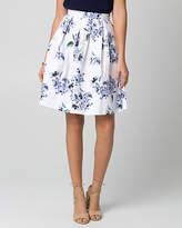 Le Château Floral Print Cotton Sateen Full Skirt