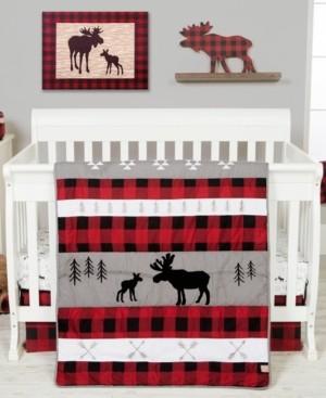 Trend Lab Lumberjack Moose 3-Piece Crib Bedding Set Bedding