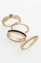 Nordstrom Metal Haven by Kendall & Kylie Stackable Rings (Set of 4) (Juniors Exclusive)