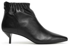 3.1 Phillip Lim Blitz Ruched Leather Ankle Boots