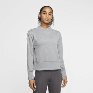 Nike Womens Fleece Long-Sleeve Training Top Dri-FIT Get Fit