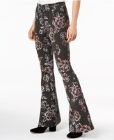 Free People Born To Be Wild Printed Flared Pants