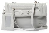 Balenciaga Foldover Leather Envelope Clutch