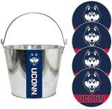 UConn Huskies Metal Drink Bucket & Paper Coaster 5-piece Set