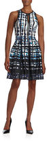 Vince Camuto Printed Fit-and-Flare Dress