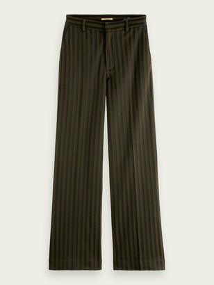 Scotch & Soda Edie high-rise wide-leg cotton-blend trousers | Women