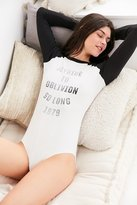 Out From Under Graphic Raglan Bodysuit