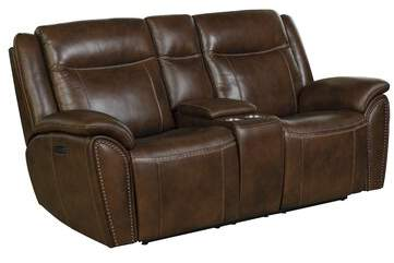 Pleasant Brown Leather Reclining Sofa Shopstyle Caraccident5 Cool Chair Designs And Ideas Caraccident5Info