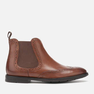 Clarks Men's Ronnie Top Leather Chelsea Boots - British Tan