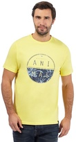 Animal Light Yellow Logo Print T-shirt
