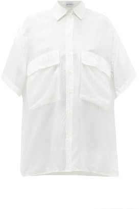 Raey Double-layer Silk Shirt - Womens - Ivory