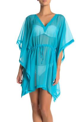 Tommy Hilfiger Women's Swimsuit Coverups BLUEBIRD - Bluebird Sheer Sidetail V-Neck Cover-Up - Women