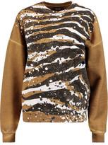 Just Cavalli Coated Cotton-Jersey Sweatshirt