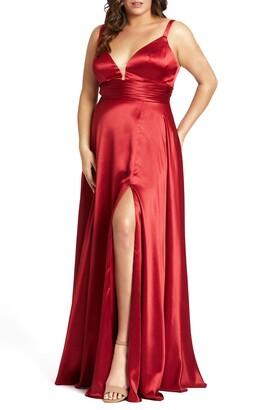 Mac Duggal Empire Waist Satin Gown