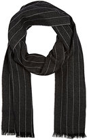 Barneys New York MEN'S PINSTRIPED CASHMERE SCARF