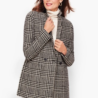 Talbots Long Boiled Wool Jacket - Plaid