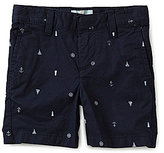Class Club Little Boys 2T-7 Nautical Print Flat-Front Shorts