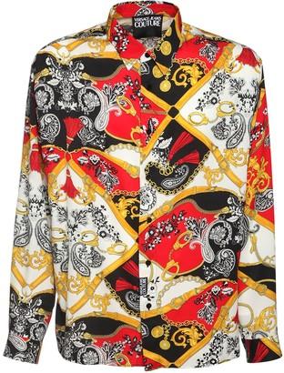 Versace Jeans Couture Belt Print Viscose Shirt