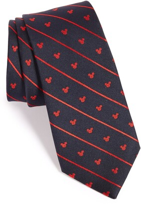 Cufflinks Inc. 'Disney - Mickey Mouse Stripe' Silk Tie