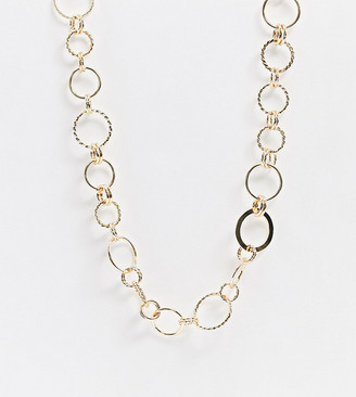 Monki Nora chain link necklace in gold