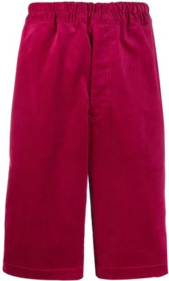 Comme des Garcons Ribbed Knee-Length Shorts