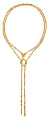 Versace Medusa-charm Double-chain Necklace - Gold