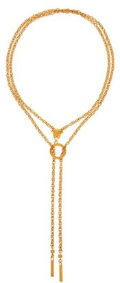 Versace Medusa Double-chain Necklace - Womens - Gold