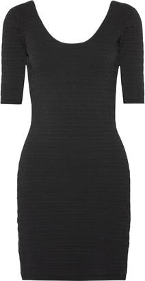 Elizabeth and James Lydia Textured Stretch-ponte Mini Dress
