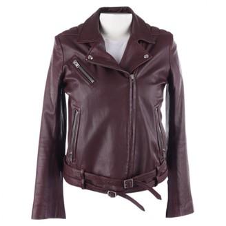 IRO Burgundy Leather Jackets