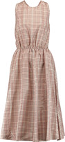 Rochas Checked silk dress