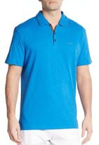 Calvin Klein Slub Cotton Polo Shirt