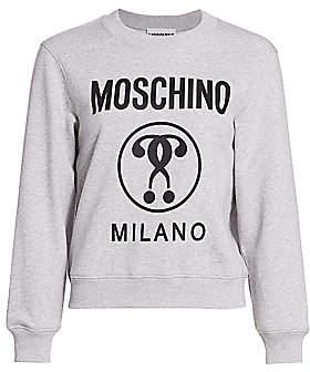 Moschino Women's Cotton Fleece Logo Sweatshirt