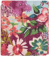 Melange Home Flowers Abloom Kantha Cotton Coverlet