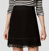 LOFT Petite Mixed Floral Lace Skirt
