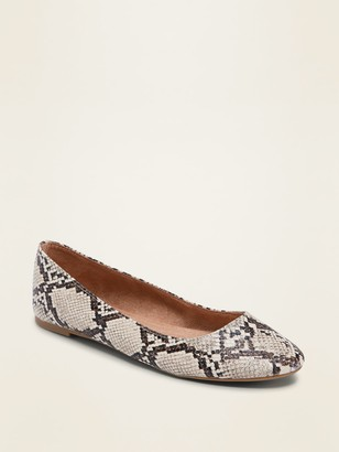 Old Navy Faux-Snakeskin Ballet Flats for Women