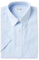 Pierre Cardin Blue Micro-Check Short Sleeve Dress Shirt