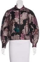 Co Floral Pattern Jacquard Jacket