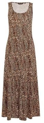 Dorothy Perkins Womens Multi Colour Leopard Print Sleeveless Midi Dress