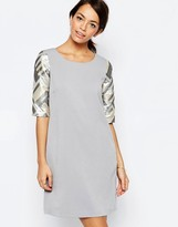 Traffic People Armed and Dangerous Dress With Metallic Sleeves
